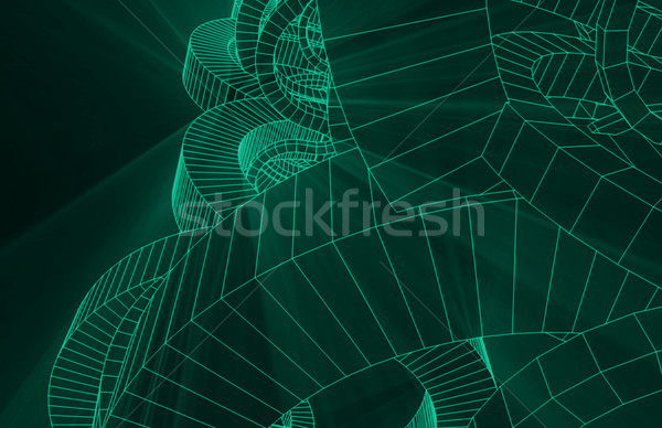 Wireframe Abstract Stock photo © kentoh