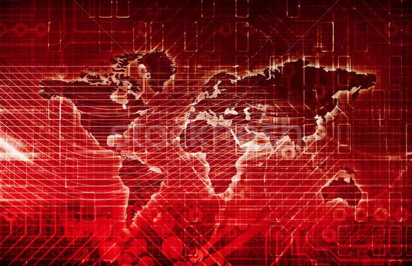 Digitale netwerk business eis kunst internet Stockfoto © kentoh