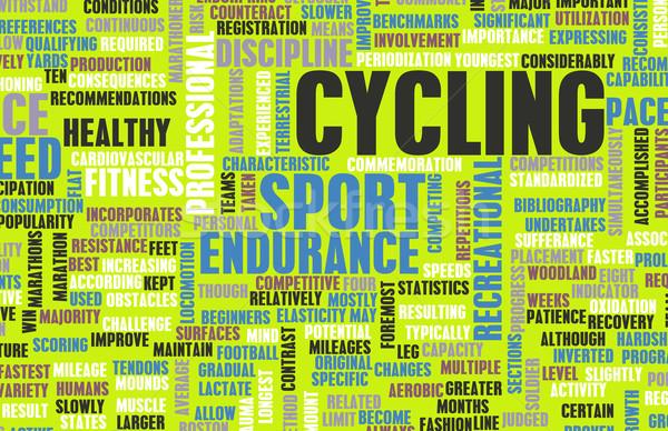 Bisiklete binme bisiklet spor dağ seyahat Stok fotoğraf © kentoh