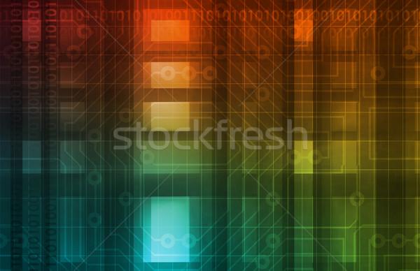 Netzwerk Sicherheit Internet Daten Hintergrund Corporate Stock foto © kentoh