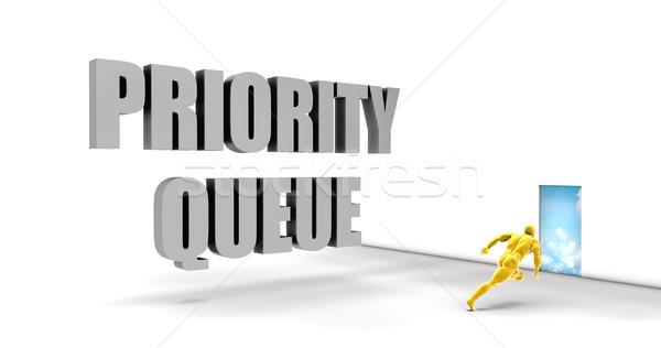 Priorità coda veloce brano dirigere Foto d'archivio © kentoh
