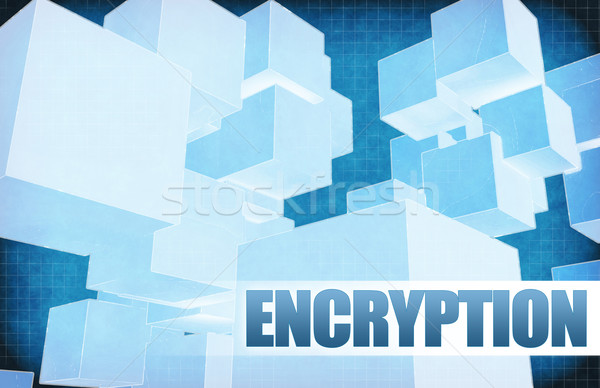Encryption on Futuristic Abstract Stock photo © kentoh