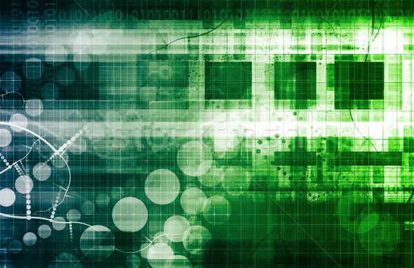 Futurisztikus hálózat technológia erő üzlet absztrakt Stock fotó © kentoh