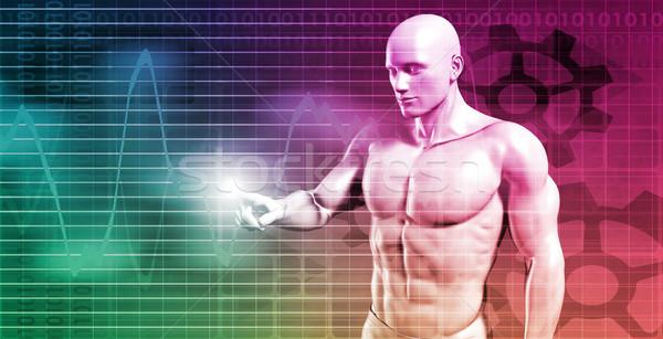 Mercado de ações algoritmo comércio tecnologia teia software Foto stock © kentoh