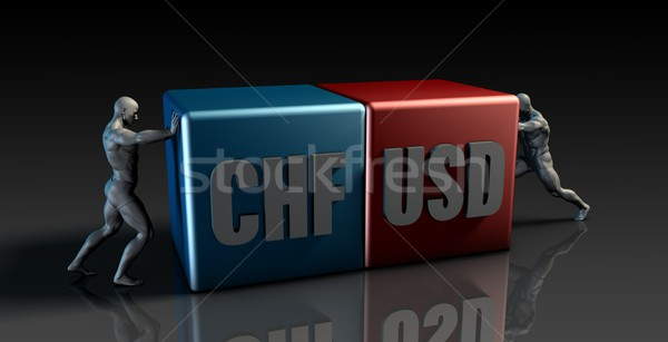 Stock photo: CHF USD Currency Pair