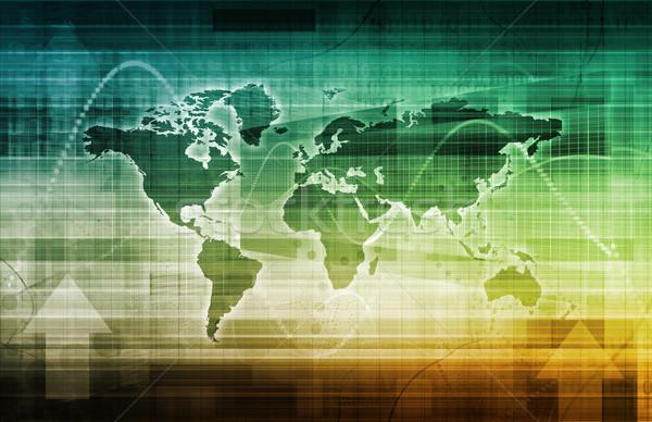 Sociale ontdekking internet netwerk reizen mobiele Stockfoto © kentoh