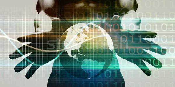 Globális vágány nemzetközi mobilitás szoftver hálózat Stock fotó © kentoh