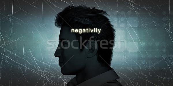 человека отрицательность личные вызов синий исполнительного Сток-фото © kentoh