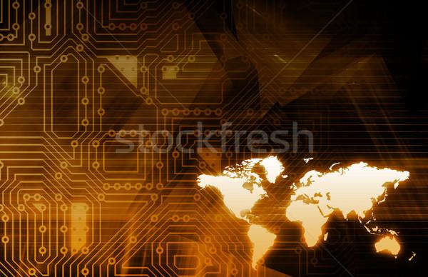Integrato globale livello abstract rete Foto d'archivio © kentoh