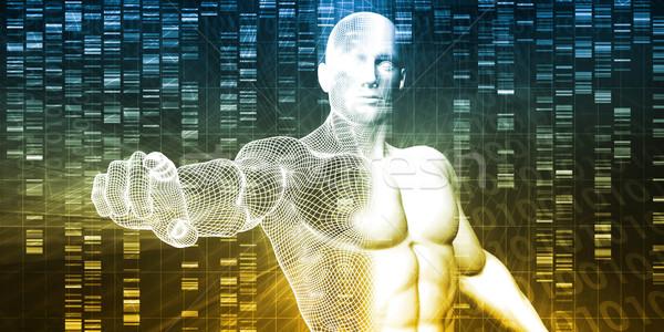 Bilimsel araştırma genetik DNA bilim sağlık tıp Stok fotoğraf © kentoh