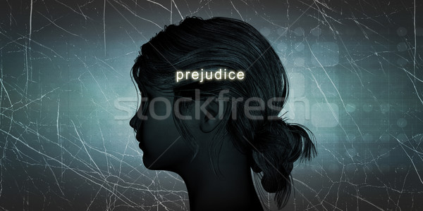 Woman Facing Prejudice Stock photo © kentoh