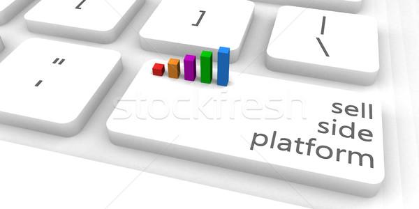 Vender lado teclado bar indústria Foto stock © kentoh