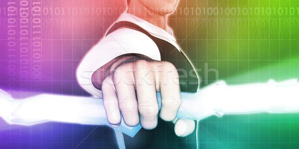 Estratégia de marketing visão luz empresário relâmpago Foto stock © kentoh