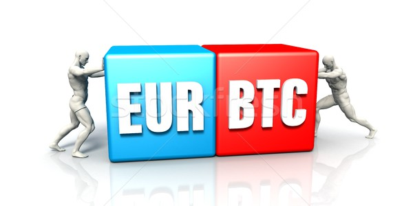 EUR BTC Currency Pair Stock photo © kentoh
