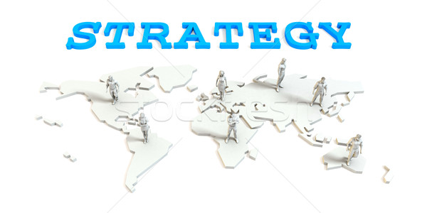 Strategy Global Business Stock photo © kentoh