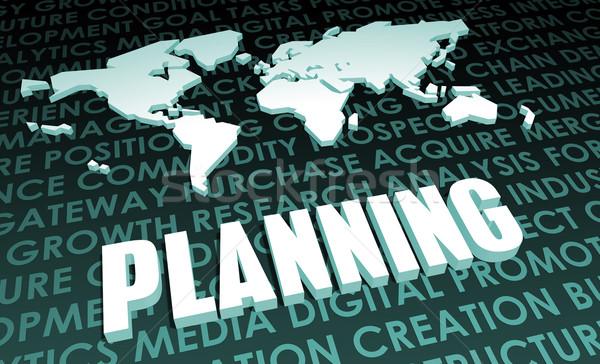 規劃 行業 全球 標準 3D 地圖 商業照片 © kentoh