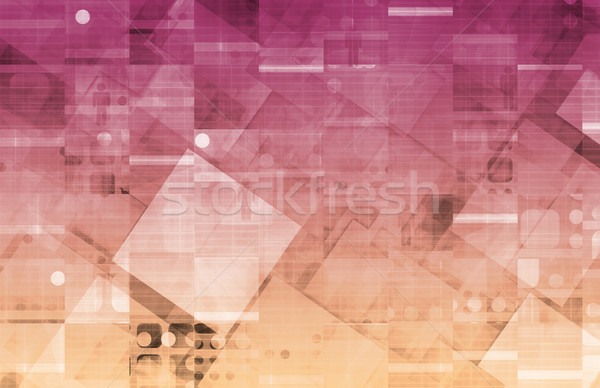 Virtual tecnología datos web arte Internet Foto stock © kentoh