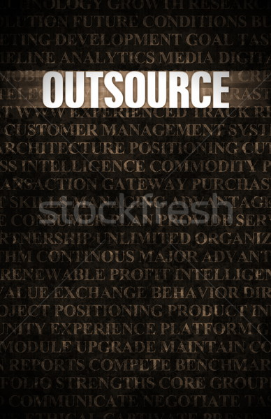 Outsourcing Stock photo © kentoh