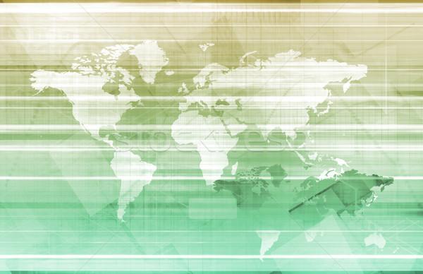 Globale logistica gestione business sfondo catena Foto d'archivio © kentoh