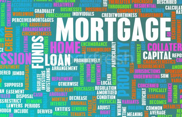 ипотечный финансовых домой банка информации Сток-фото © kentoh