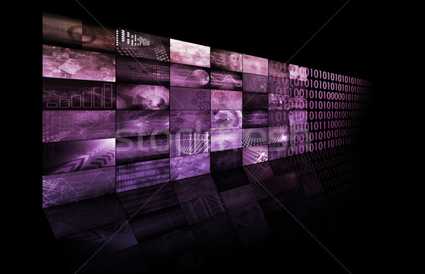 Cyfrowe branding Internetu technologii internetowych Zdjęcia stock © kentoh