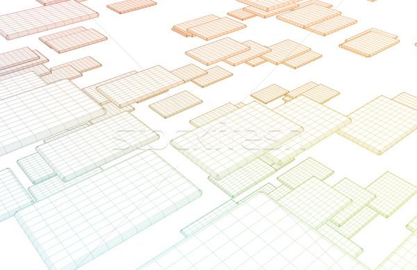 Netwerk architectuur internet gegevens uitwisseling achtergrond Stockfoto © kentoh