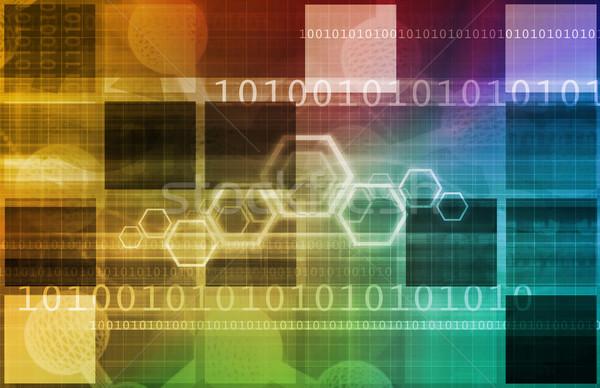 Tudományos haladás kutatás új technológiák háttér Stock fotó © kentoh