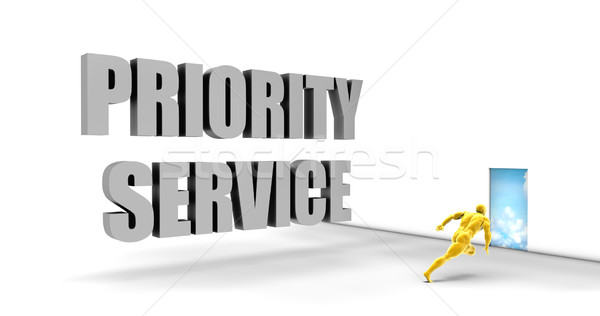 Priorytet usługi szybko utwór kierować pośpieszny Zdjęcia stock © kentoh