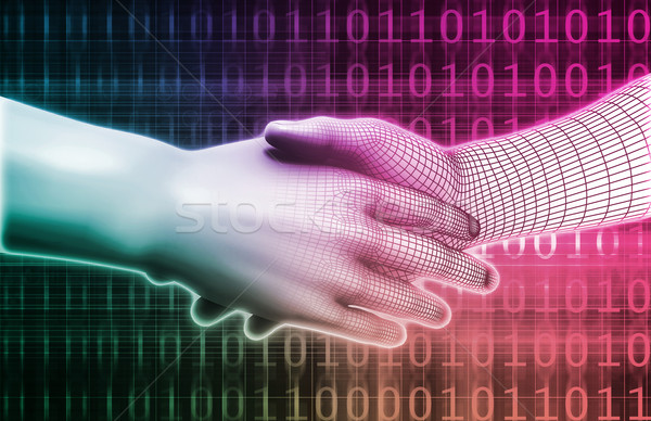 Digital Handshake Stock photo © kentoh