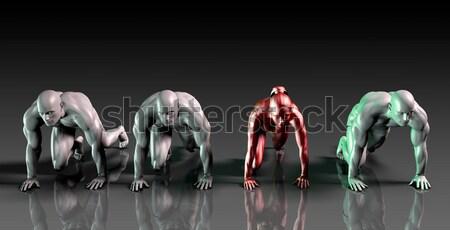 Futurista ciência raça países empresas abstrato Foto stock © kentoh