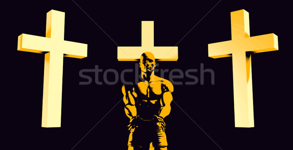 Inmate Converting to Christian Faith Stock photo © kentoh