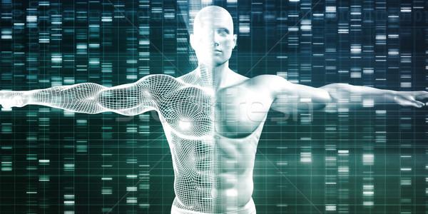 Genetik araştırma gelişme bilim veri teknoloji Stok fotoğraf © kentoh