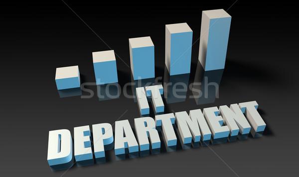 Részleg grafikon diagram 3D kék fekete Stock fotó © kentoh