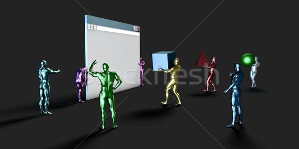 Web Development Stock photo © kentoh