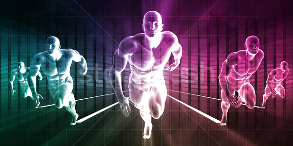 Sterkte fitness team opleiding lichaam industrie Stockfoto © kentoh