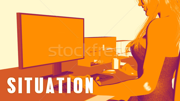 Situation Concept Course Stock photo © kentoh