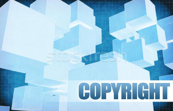 Telif hakkı fütüristik soyut tanıtım slayt dizayn Stok fotoğraf © kentoh