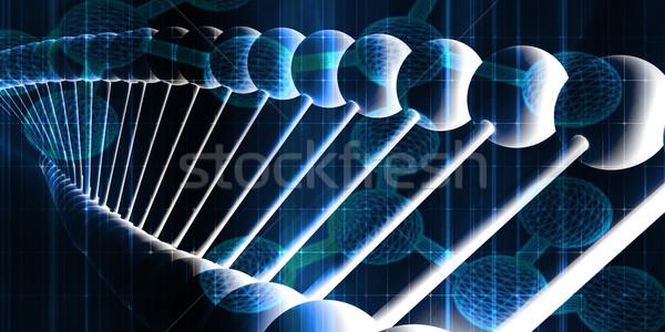 ДНК спираль аннотация медицинской здоровья фон Сток-фото © kentoh
