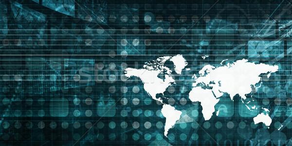 Globalizzazione business internazionale abstract arte mondo tecnologia Foto d'archivio © kentoh