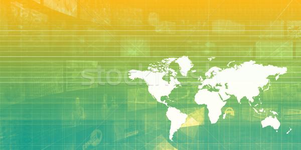 Internationale bedrijfsleven technologie industrie achtergrond bedrijf Stockfoto © kentoh