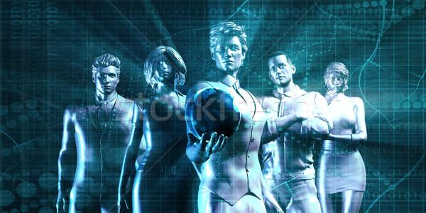 Globalisering bedrijf nieuwe markt kantoor internet Stockfoto © kentoh