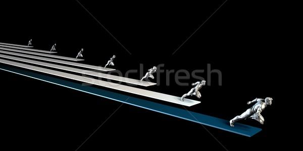 Progetto gestione agile organizzazione business abstract Foto d'archivio © kentoh