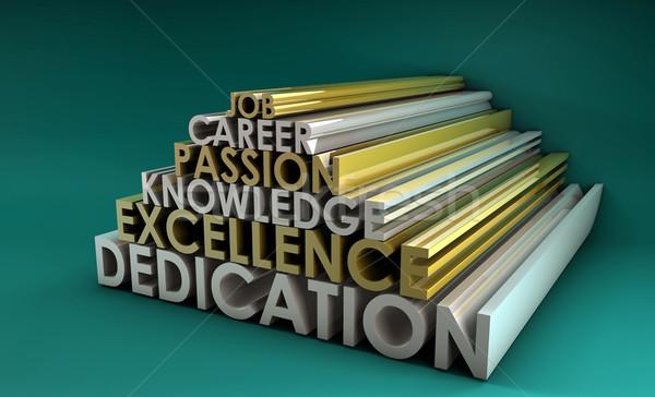 Business Fähigkeiten Leidenschaft Karriere 3D abstrakten Stock foto © kentoh