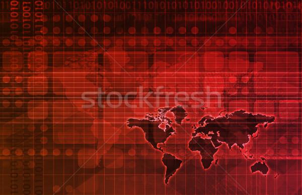 データ グリッド 未来的な ウェブ 色 デザイン ストックフォト © kentoh