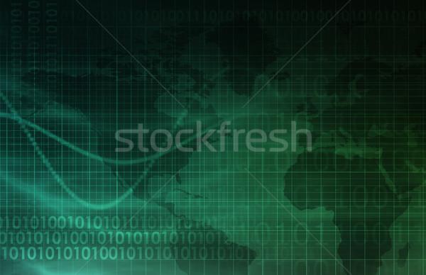 Számítógép technológia globális elér művészet absztrakt Stock fotó © kentoh