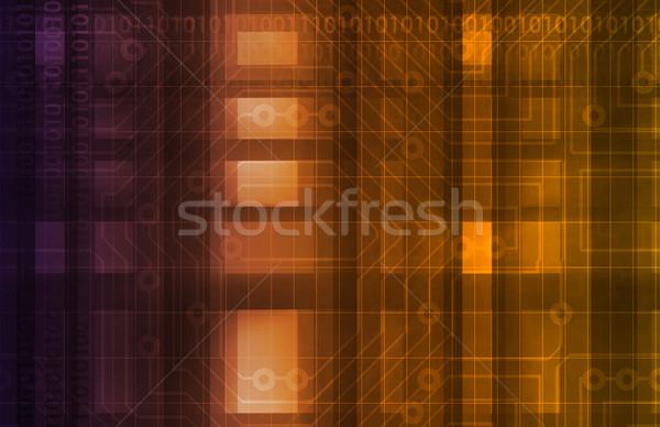 Boord futuristische technologie kunst business internet Stockfoto © kentoh