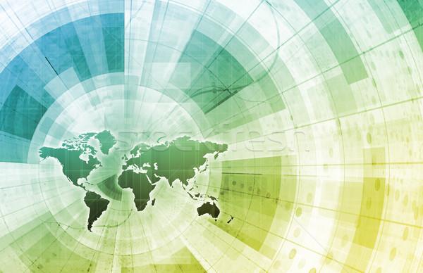 Globale integratie netwerk wereldkaart internet kaart Stockfoto © kentoh