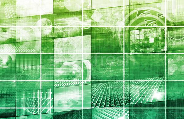 Business Mobilität zugreifen Technologie Hintergrund Industrie Stock foto © kentoh