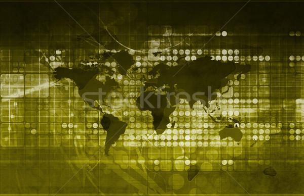 Absztrakt tudomány világtérkép orvosi világ technológia Stock fotó © kentoh