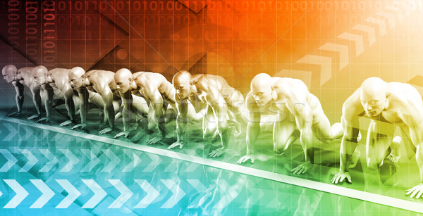 技術 グリッド ハイテク 未来的な 芸術 抽象的な ストックフォト © kentoh
